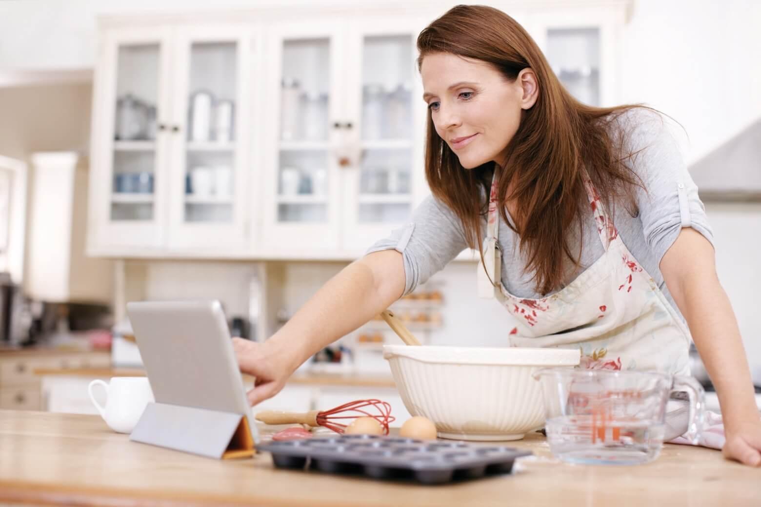 Home Baker using iPad